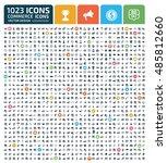 commerce icon set vector | Shutterstock .eps vector #485812660