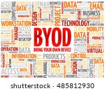 byod   bring your own device... | Shutterstock . vector #485812930