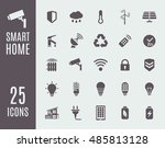 smart home icon set. home... | Shutterstock .eps vector #485813128