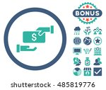 bribe icon with bonus elements. ... | Shutterstock . vector #485819776