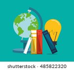 education and earth globe with...