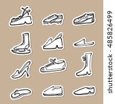 fashion and sport shoes cartoon ... | Shutterstock .eps vector #485826499
