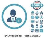 help desk icon with bonus... | Shutterstock .eps vector #485830060