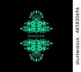 decorative design element in... | Shutterstock .eps vector #485830696