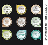 modern badges colorful... | Shutterstock .eps vector #485832370