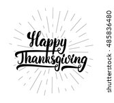 give thanks and happy... | Shutterstock .eps vector #485836480