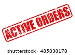 active orders red stamp text on ... | Shutterstock .eps vector #485838178