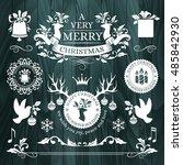 christmas decorations ... | Shutterstock .eps vector #485842930
