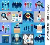 recruitment  hiring  employee... | Shutterstock .eps vector #485844100