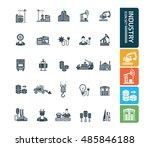 industry icon set vector   Shutterstock .eps vector #485846188