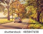 Old Asphalt Road With Beautifu...