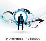 silhouette of businessman... | Shutterstock .eps vector #48585007