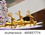 reindeer decoration. every... | Shutterstock . vector #485857774