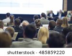 group of professionals at the... | Shutterstock . vector #485859220