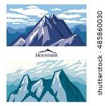 forbidding mountains. mountain... | Shutterstock .eps vector #485860030