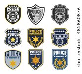police badges | Shutterstock .eps vector #485860876