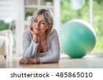 a pretty fifty years old woman... | Shutterstock . vector #485865010