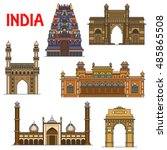 travel landmarks of indian... | Shutterstock .eps vector #485865508