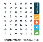 medical icon healthy care icon... | Shutterstock .eps vector #485868718