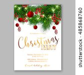 christmas party invitation... | Shutterstock .eps vector #485868760