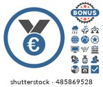 euro prize medal icon with... | Shutterstock .eps vector #485869528