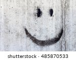 Concrete Wall With Black Smiley ...