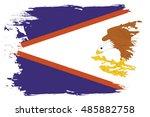 a flag illustration of the... | Shutterstock .eps vector #485882758