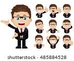 cute set   set of businesspeople | Shutterstock .eps vector #485884528