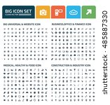 big icon set design clean vector | Shutterstock .eps vector #485887330