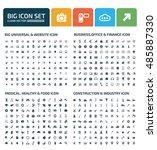 big icon set design clean vector | Shutterstock .eps vector #485887330