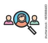selecting user | Shutterstock .eps vector #485888683