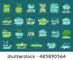 vector health and beauty care... | Shutterstock .eps vector #485890564