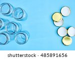 a studio photo of glass storage ... | Shutterstock . vector #485891656