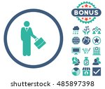 businessman icon with bonus... | Shutterstock .eps vector #485897398