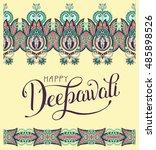 happy deepawali greeting card... | Shutterstock .eps vector #485898526