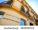 malaga   may 15  the pablo... | Shutterstock . vector #485898553