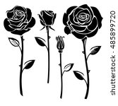 collection of black and white... | Shutterstock . vector #485899720
