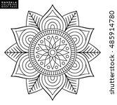 flower mandala. vintage... | Shutterstock .eps vector #485914780