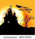 happy halloween  halloween... | Shutterstock .eps vector #485915599