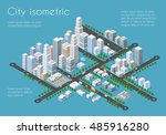 transportation city streets... | Shutterstock .eps vector #485916280