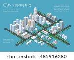 transportation city streets... | Shutterstock .eps vector #485916280