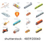 collection of transport icons.... | Shutterstock .eps vector #485920060