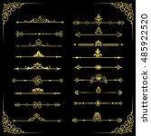 set of  decorative vintage gold ... | Shutterstock . vector #485922520