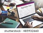 application form document... | Shutterstock . vector #485932660
