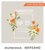 floral frame graphic design  ... | Shutterstock .eps vector #485933440