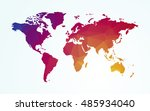 world map color geometric shape ... | Shutterstock .eps vector #485934040