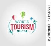 world tourism day vector... | Shutterstock .eps vector #485937334