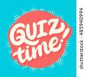 quiz time banner. | Shutterstock .eps vector #485940994