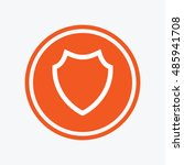 shield sign icon. protection... | Shutterstock .eps vector #485941708