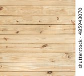 brown wood plank wall texture... | Shutterstock . vector #485943070